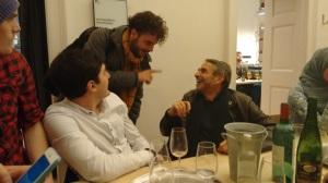 Paolo Buscemi challenging John Harris