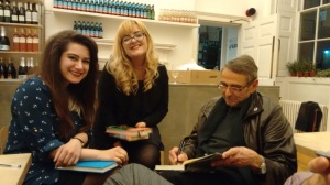 Shayda Kashef, Aimee Bambury with John Harris