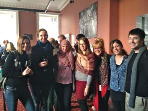 Some of the Bioethics & Society students. From left to right: Alex, Andrea, Hanna, Elizabeth, Aimee, Rose, and Jake